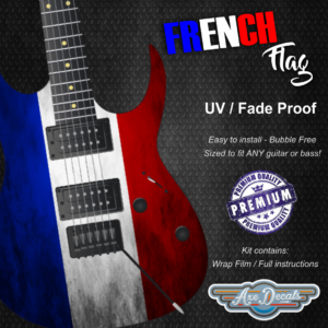 French Flag Guitar Wrap Skin