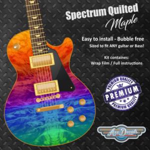 Spectrum Quilted Maple Guitar Wrap Skin