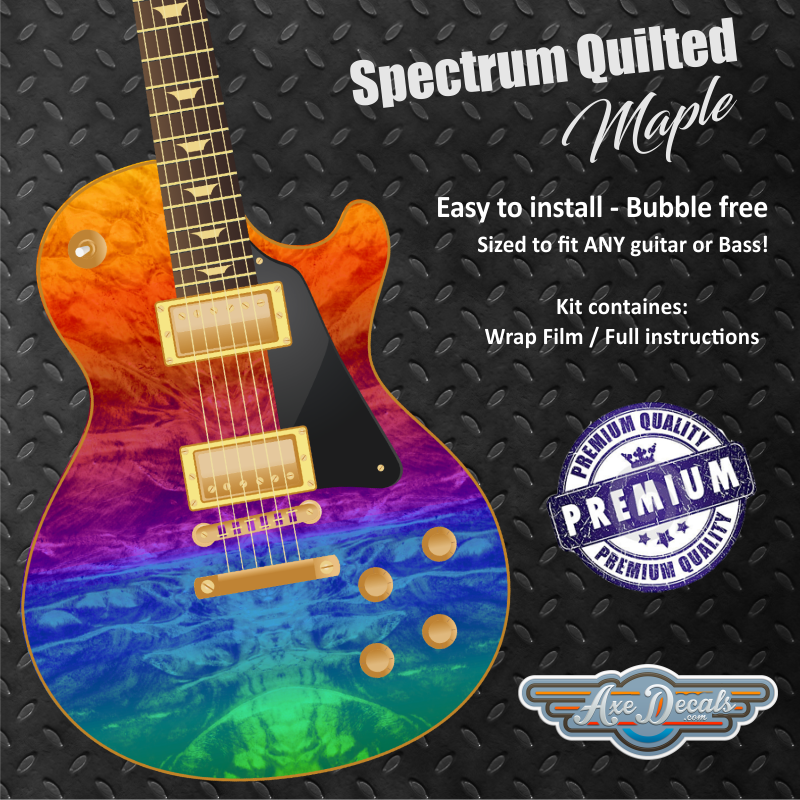 Spectrum Quilted Maple Guitar Wrap Skin
