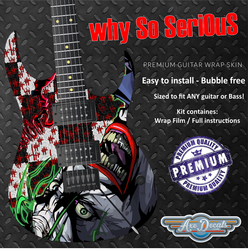 Why So Serious Guitar Wrap Skin