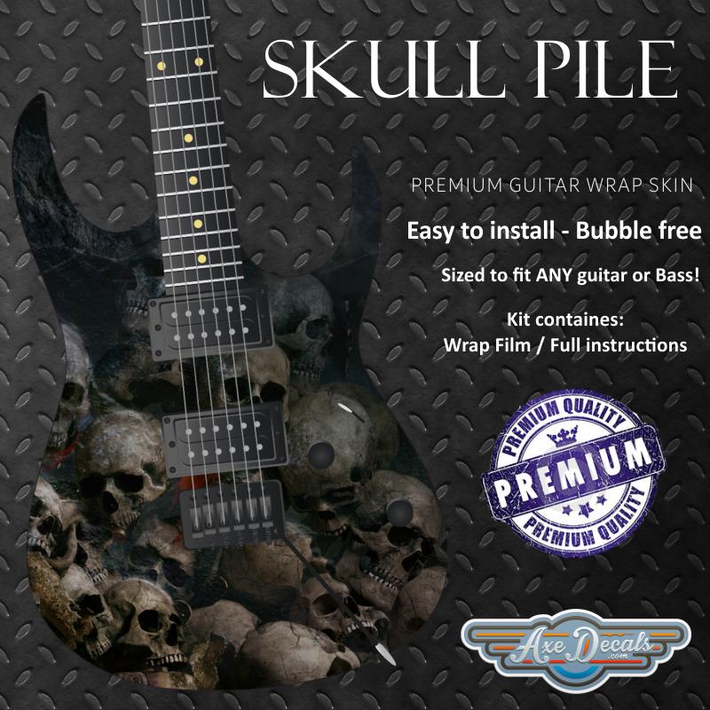 Skull Pile Guitar Wrap Skin Guitar Skin Guitar Wrap