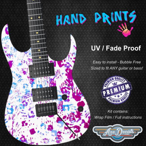 Hand Prints Guitar Wrap Skin