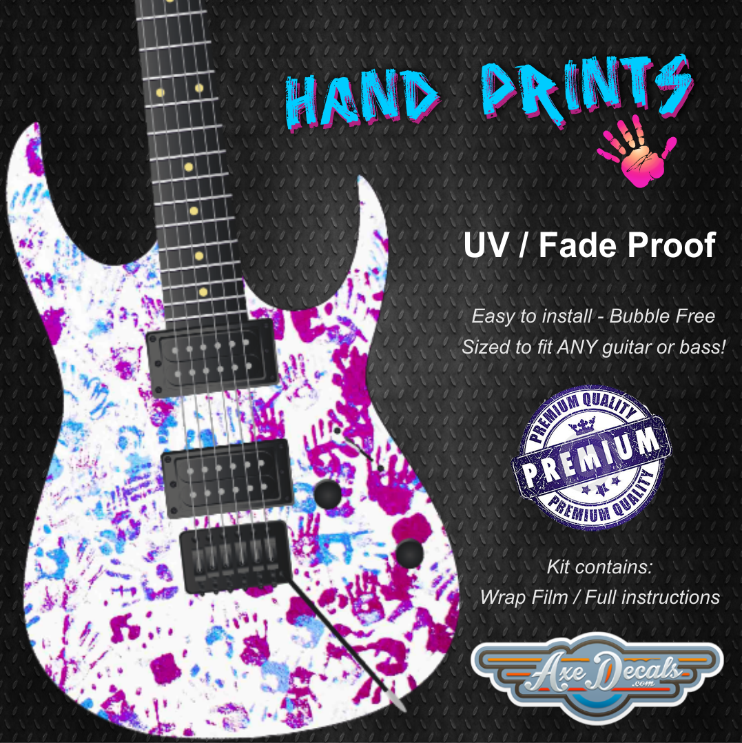 Hand Prints Guitar Wrap Skin
