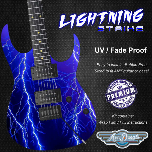 Lightning Strike Guitar Wrap Skin