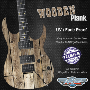 Wooden Plank Guitar Wrap Skin