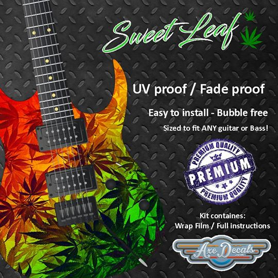 Sweet Leaf Guitar Wrap Skin