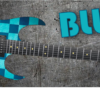 Blue Cheques Guitar Wrap Skin