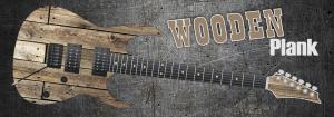 Wooden Plank Guitar Wrap Skin
