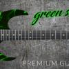 Green Swirl Guitar Wrap Skin