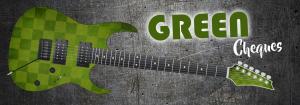 Green Cheques Guitar Wrap Skin