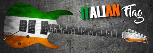 Italian Flag Guitar Wrap Skin
