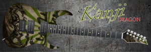 Kanji Dragon Guitar Wrap Skin