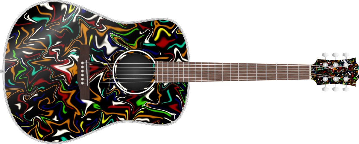 Abstract Colours Wrap Skin Guitar Skin Guitar Wrap