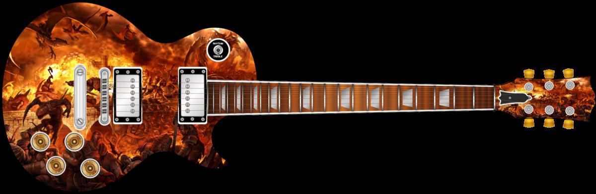 Battle Of Fire Wrap Skin Guitar Skin Guitar Wrap