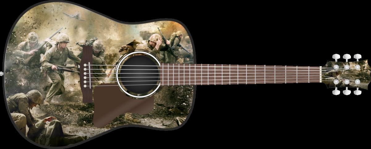 Beach Landing Wrap Skin Guitar Skin Guitar Wrap