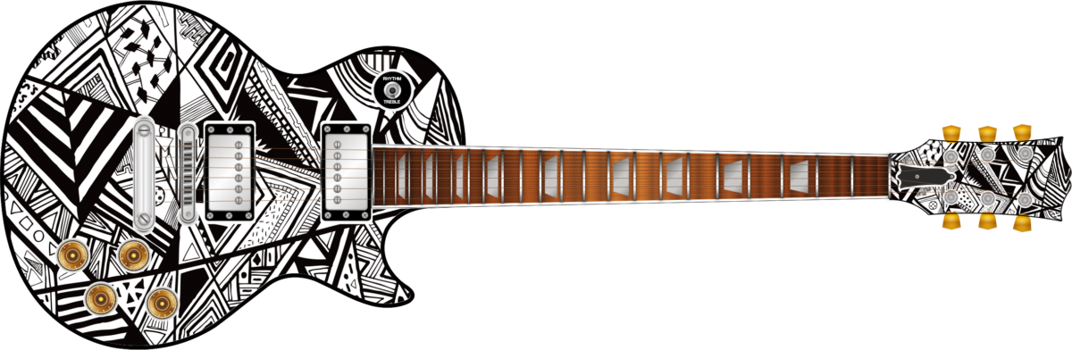 Black Amp White Abstract Wrap Skin Guitar Skin Guitar