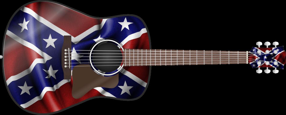 Confederate Flag Guitar Wrap Skin Guitar Skin Guitar