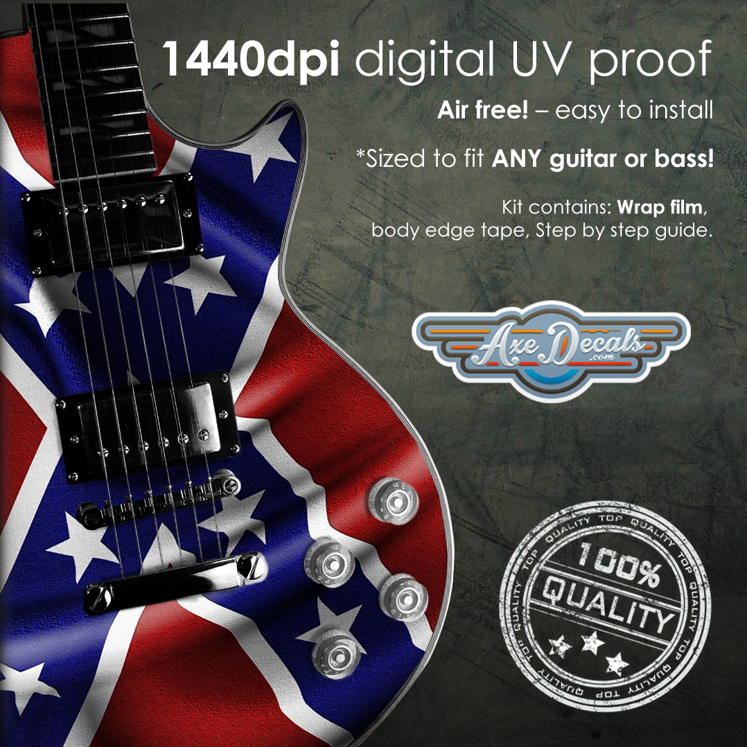Confederate Flag Guitar Wrap Skin