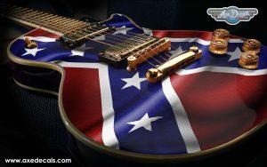 Confederate Flag Guitar Wrap Skin