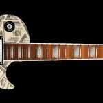 Dollar Bills Guitar Wrap Skin