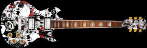 Grunge Skulls Guitar Wrap Skin