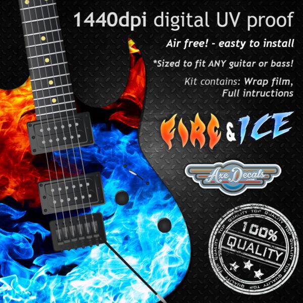 Fire & Ice Guitar Wrap Skin