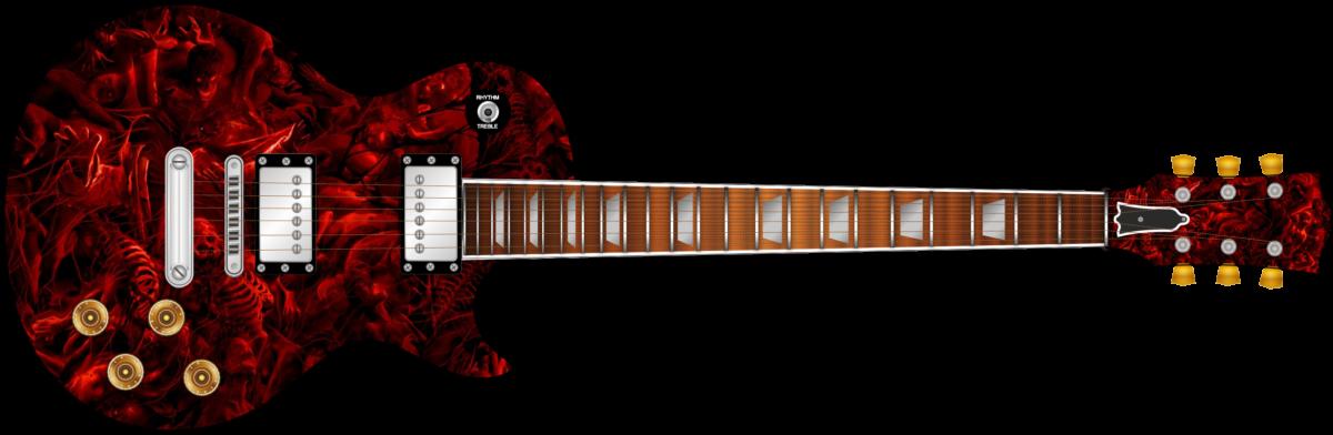 Hell Guitar Wrap Skin Axedecals Com