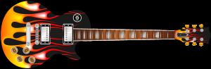 Hot Rod Flames Guitar Wrap Skin