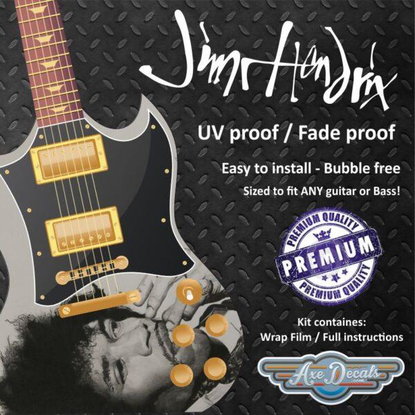 Jimi Hendrix Guitar Wrap Skin