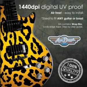 Leopard Print Guitar Wrap Skin