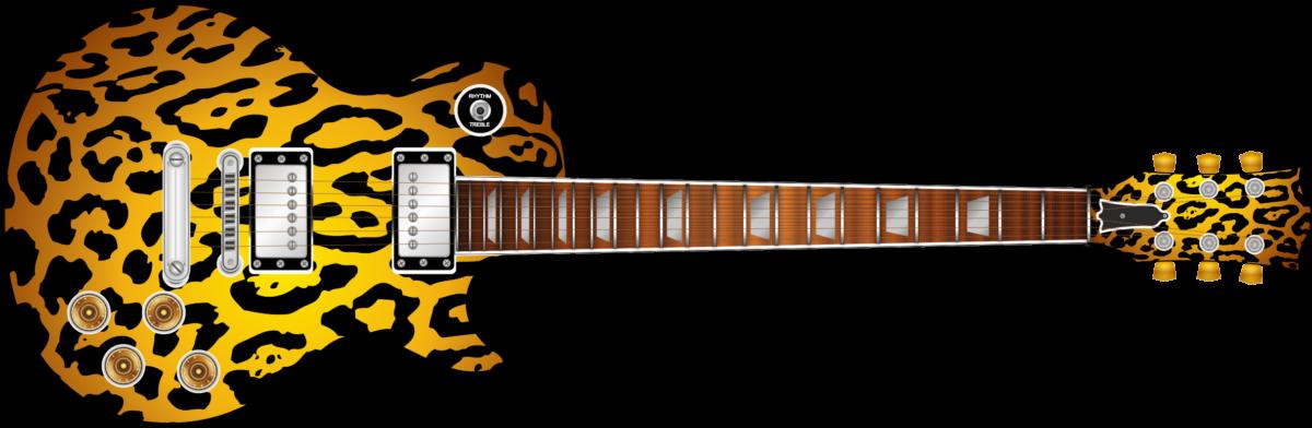 Leopard Print Guitar Wrap Skin Guitar Skin Guitar Wrap