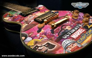 Marvel vs Capcom Guitar Wrap Skin