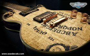 Ouija Board Guitar Wrap Skin