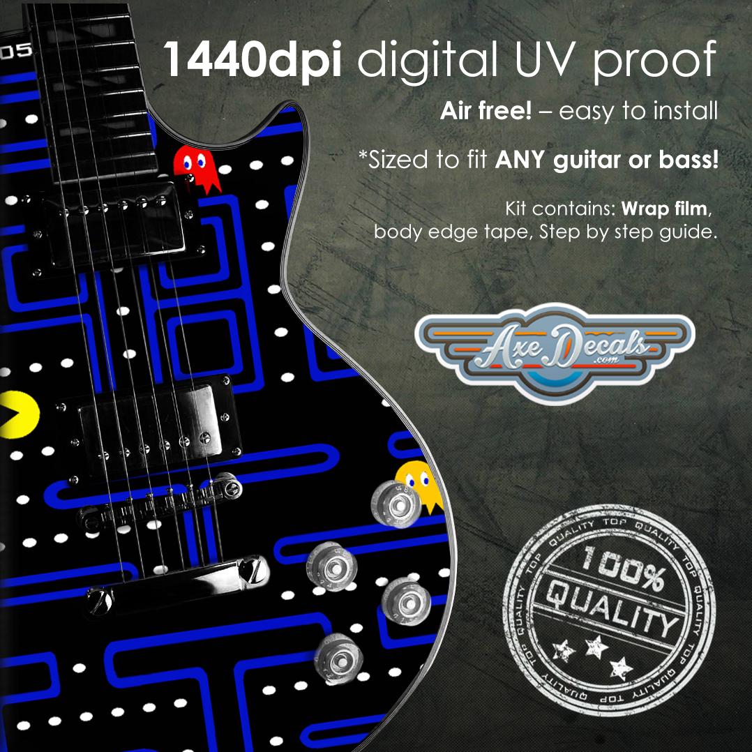 Pacman Guitar Wrap Skin