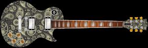 Retro Paisley Guitar Wrap Skin