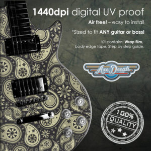 Retro Paisley Guitar Wrap Skin