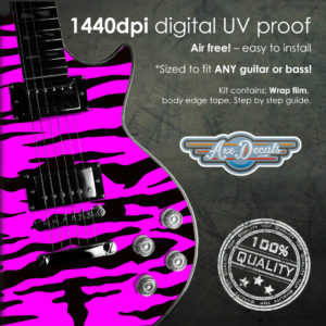 Pink Tiger Guitar Wrap Skin