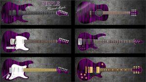 Purple Flame Maple Guitar Wrap Skin