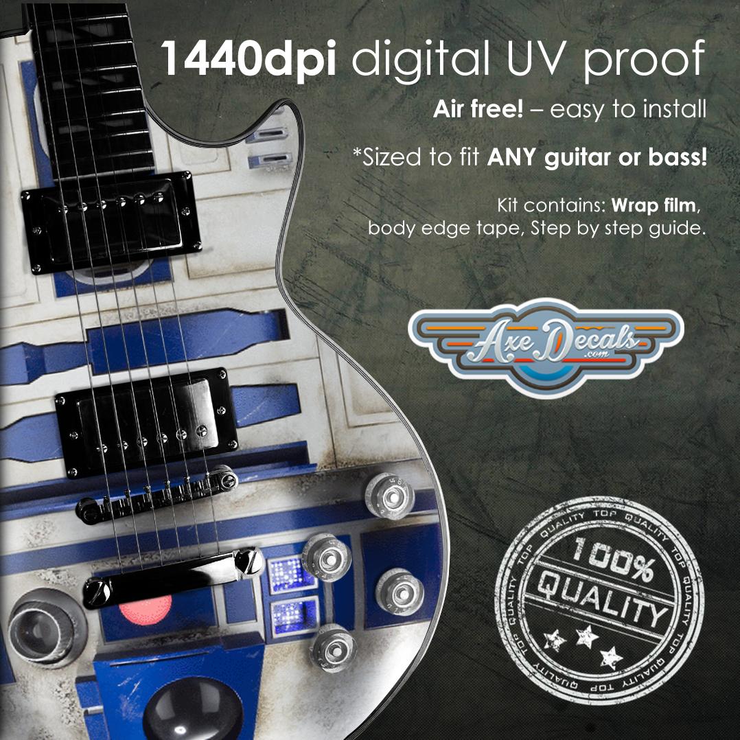 R2D2 Guitar Wrap Skin