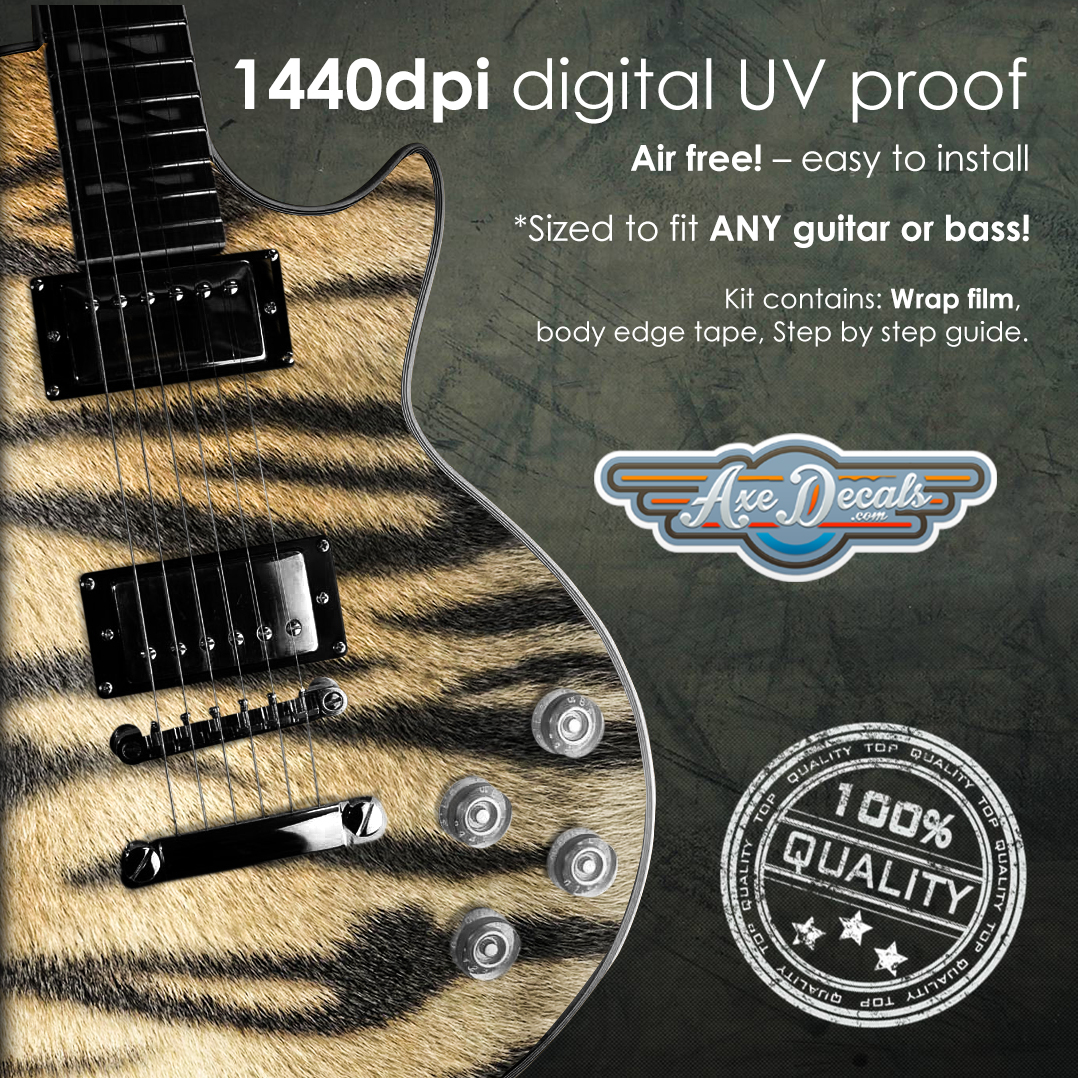 Tiger Print Guitar Wrap Skin