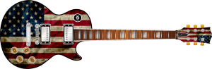 USA Flag Guitar Wrap Skin
