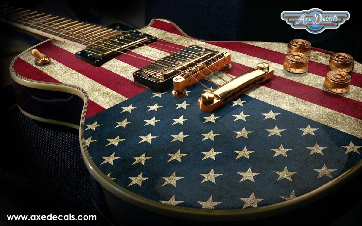 Usa Flag Guitar Wrap Skin Axedecals Com