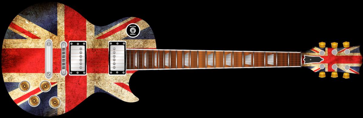 Union Jack Flag Guitar Wrap Skin Guitar Skin Guitar