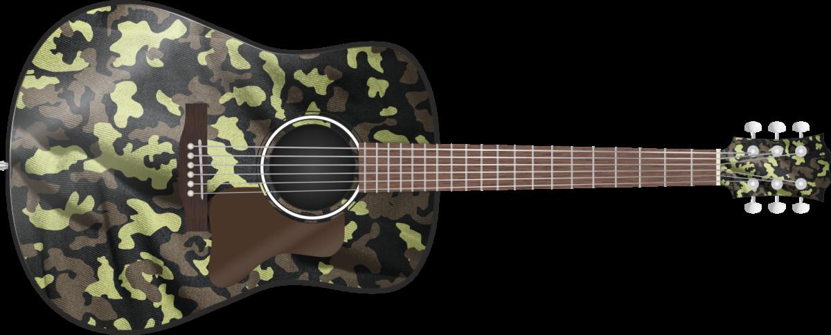 Woodland Camo Wrap Skin Guitar Skin Guitar Wrap