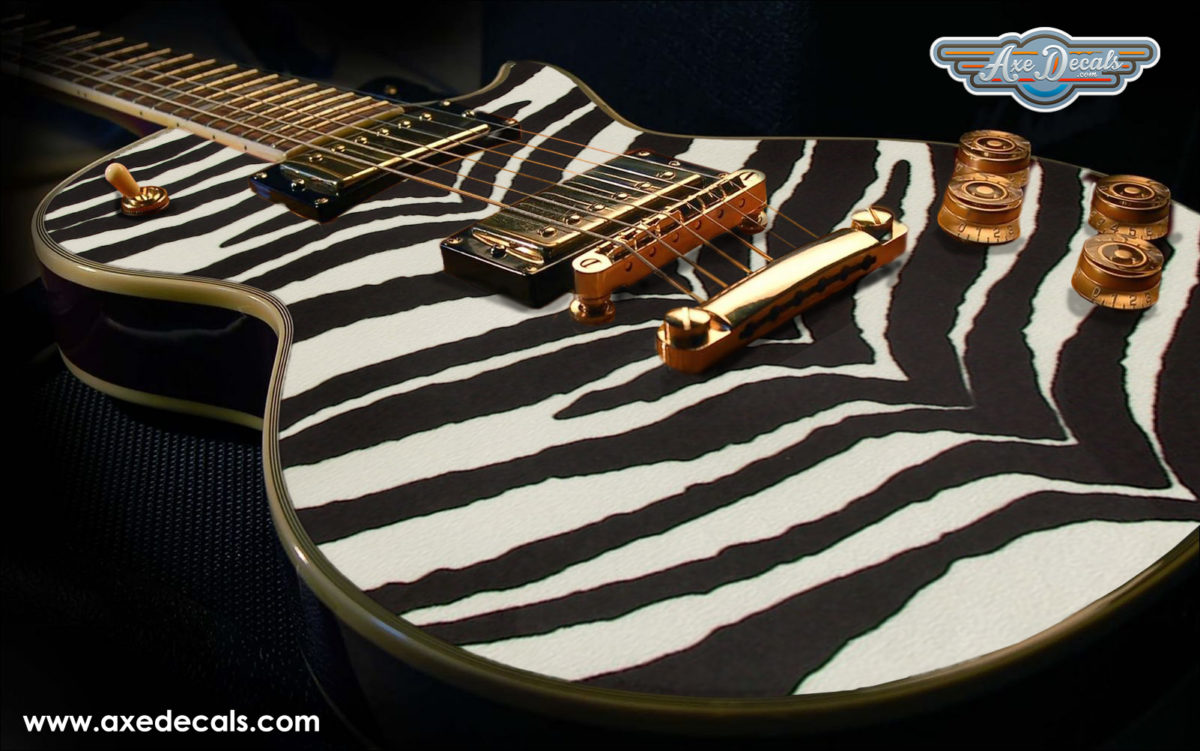 Zebra Print Guitar Wrap Skin Guitar Skin Guitar Wrap