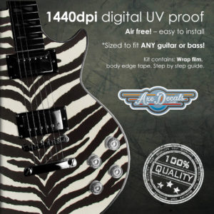 Zebra Print Guitar Wrap Skin