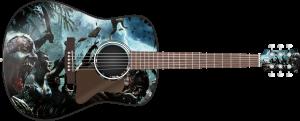 Zombie Attack Guitar Wrap Skin