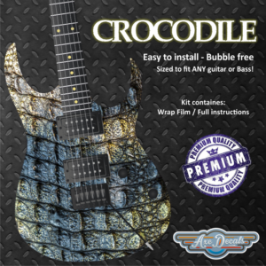 Crocodile Guitar Wrap Skin