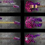 Neon Tiger Guitar Wrap Skin