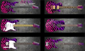Neon Tiger Guitar Wrap Skin